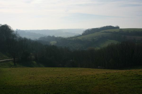 The rolling hills near Bath.