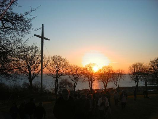 This was the sunrise on Easter day in Guernsey, 2007.