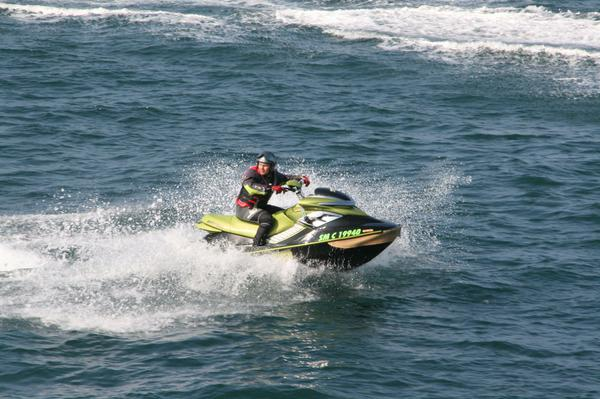 A mad jet-skier who was chasing the ferry I was on.