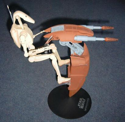A side view showing the droid in riding position.