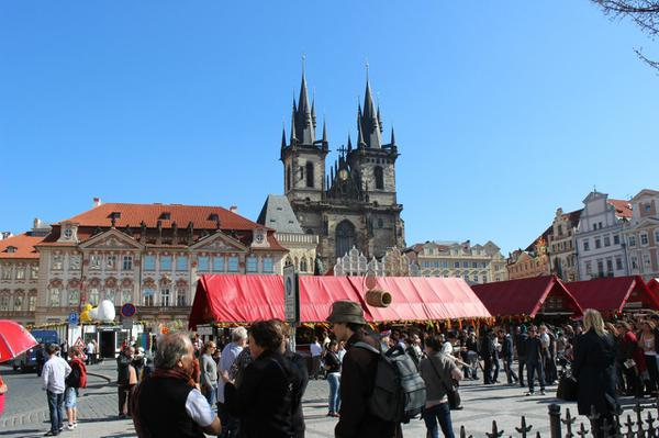 There was an Easter market filling one of the main squares all the time I was in Prague.