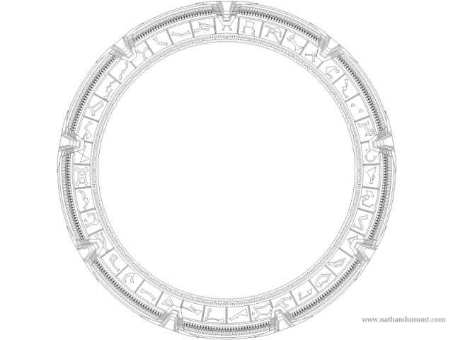 An image of the full ring of a Stargate