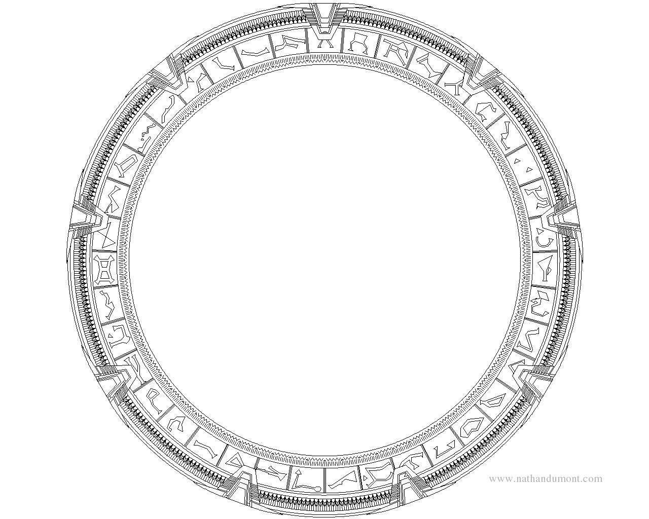 Stargate Symbols Whole gate 1280x1024